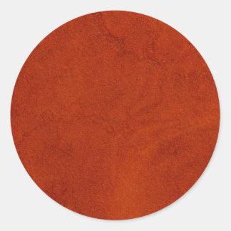 Red suede classic round sticker
