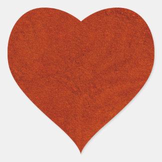 Red suede heart sticker