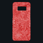 "Red Suede Leather Look Embossed Flowers Case-Mate Samsung Galaxy S8 Case<br><div class=""desc"">Elegant red leather look vintage flowers embossed design.  It is available on other products.</div>"