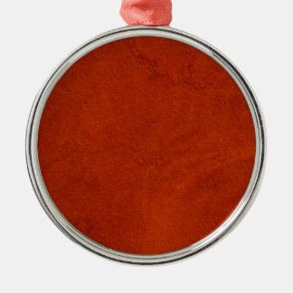 Red suede metal ornament