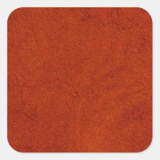 Red suede square sticker