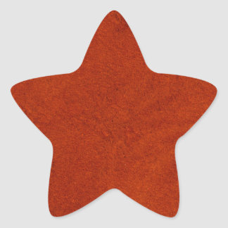 Red suede star sticker