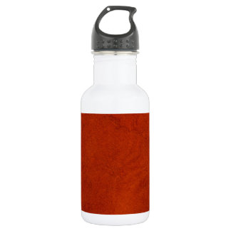Red suede water bottle