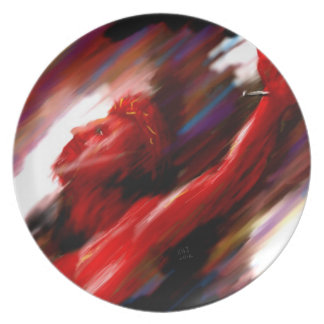 Red Suffering Holy Communion Plate