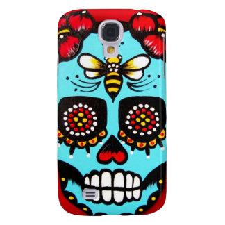 Red Sugar Skull Galaxy S4 Cases