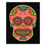 Red Sugar Skull Full Color Flyer