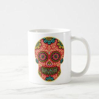 Red Sugar Skull Coffee Mugs