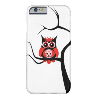 Red Sugar Skull Owl in Tree iPhone 6 case