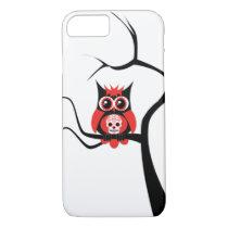 Red Sugar Skull Owl in Tree iPhone 7 case