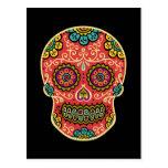 Red Sugar Skull Post Card