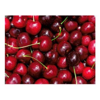 Red Summer Cherries Postcard