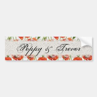 Red Summer Poppy Bumper Sticker