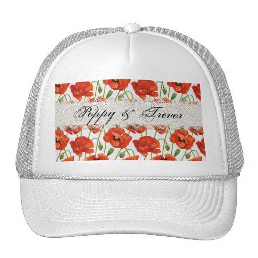 Red Summer Poppy Trucker Hat