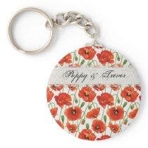 Red Summer Poppy Keychain