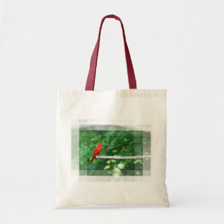 Red Summer Tanager Tote Bag