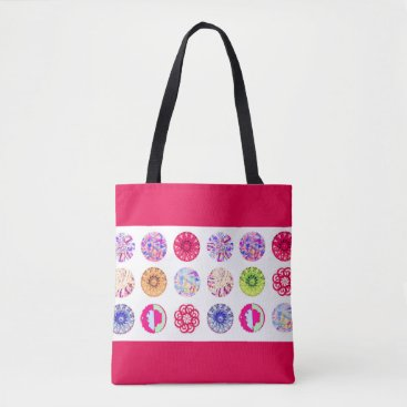 Beach Themed Red summer tote bag