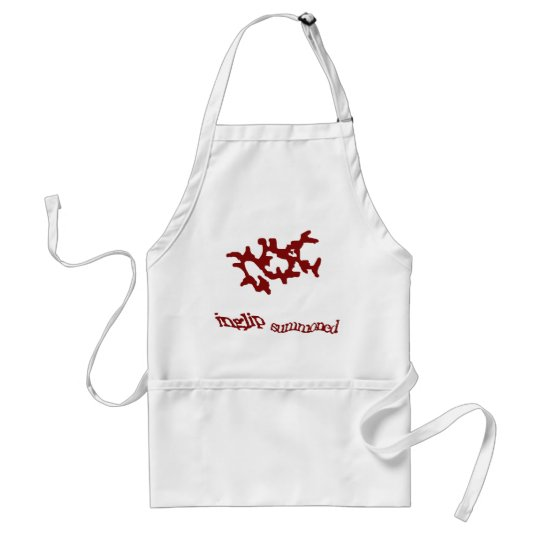 Red Summoning Weedaula Adult Apron