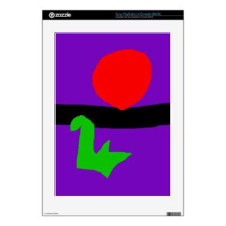 Red Sun Black Horizon Purple Sky Green Lizard Skins For PS3