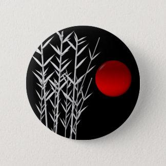 Red sun black white zen button