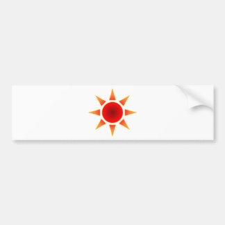 Red Sun Bumper Stickers