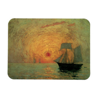 Red Sun by Maxime Maufra Vintage Impressionism Art Rectangle Magnet
