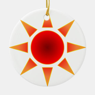 Red Sun Ceramic Ornament