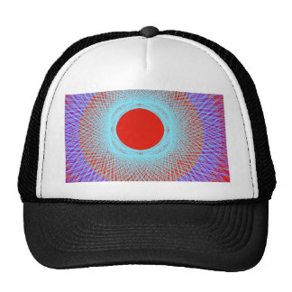 red sun give multicolor abstract art mesh hats