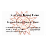Red Sun in Lights Grunge Cutout Business Card Templates