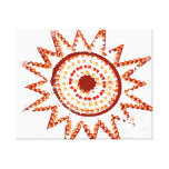Red Sun in Lights Grunge Cutout Stretched Canvas Prints