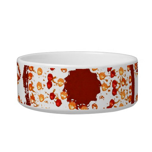 Red Sun in Lights Grunge Cutout Cat Food Bowl