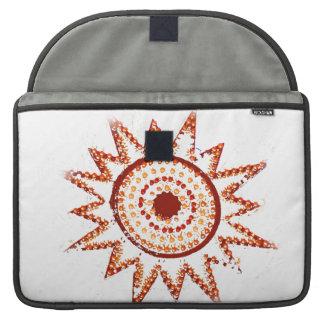 Red Sun in Lights Grunge Cutout MacBook Pro Sleeve
