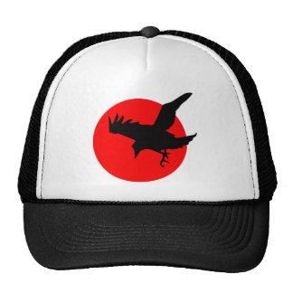 Red Sun Raven Mesh Hats