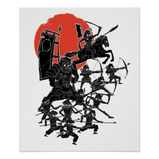 Red Sun Samurai Poster