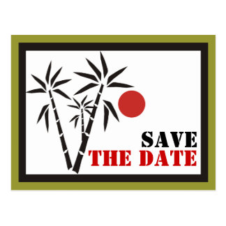 Red Sun Save The Date Postcards