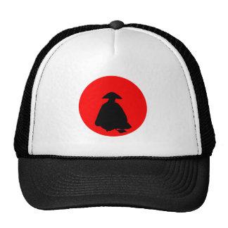 Red sun talk sun sitting man sitting one hat