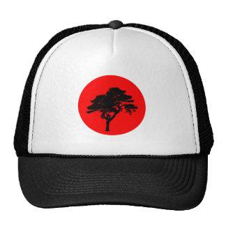 Red sun talk sun tree tree mesh hats