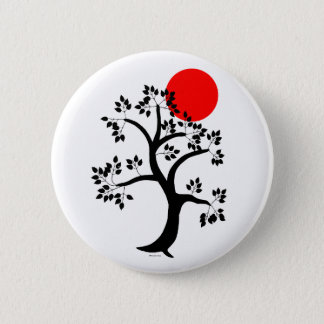 Red Sun Tree Button