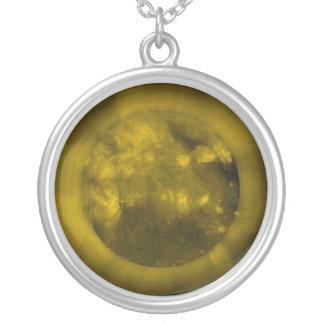 Red Sun Yellow Sun Green Sun Blue Sun Round Pendant Necklace