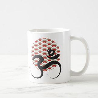Red Sun Yoga Spiritual Indian Meditate Om Ohm Logo Coffee Mug