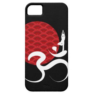 Red Sun Yoga Spiritual Indian Meditate Om Ohm Logo iPhone SE/5/5s Case