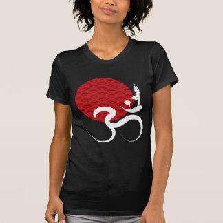 Red Sun Yoga Spiritual Indian Meditate Om Ohm Logo T-Shirt