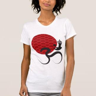 Red Sun Yoga Spiritual Indian Meditate Om Ohm Logo Tshirts