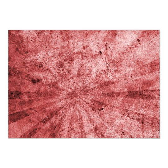 Red Sunburst Grunge Card