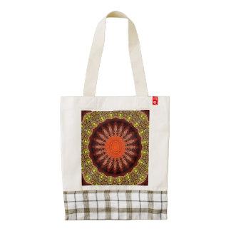 Red Sunburst Zazzle HEART Tote Bag