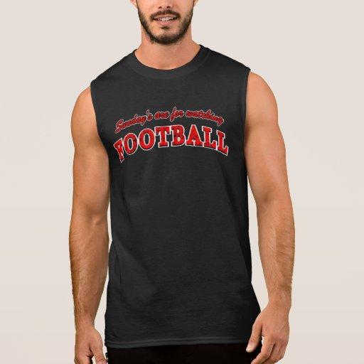 Red Sundays are for watching Football Sleeveless Shirt Tank Tops, Tanktops Shirts