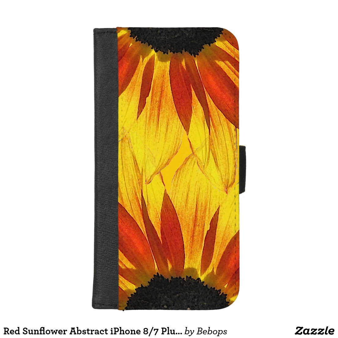 Red Sunflower Abstract iPhone 8/7 Plus Wallet Case