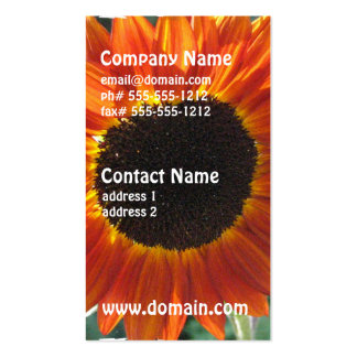Red Sunflower Business Cards