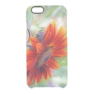 Red Sunflower Clear iPhone 6/6S Case