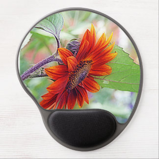Red Sunflower Gel Mouse Pad