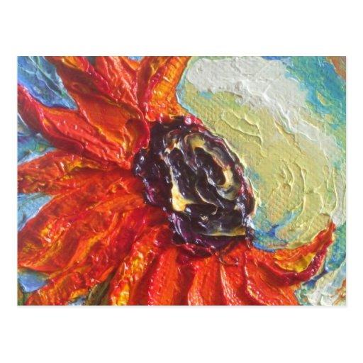 Red Sunflower Postcard